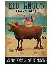 Beach Life Sandy Toes Red Angus 11x17 Poster front