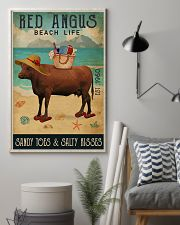 Beach Life Sandy Toes Red Angus 11x17 Poster lifestyle-poster-1