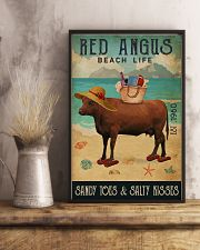 Beach Life Sandy Toes Red Angus 11x17 Poster lifestyle-poster-3