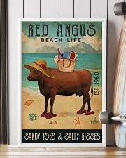 Beach Life Sandy Toes Red Angus 11x17 Poster lifestyle-poster-4