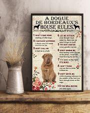 A Dogue de Bordeaux's House Rules 11x17 Poster lifestyle-poster-3