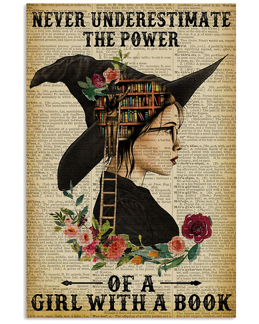 Reading Witch Girl Never Underestimate 16x24 Poster