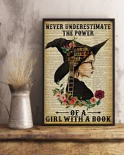 Reading Witch Girl Never Underestimate 16x24 Poster lifestyle-poster-3