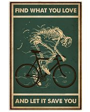 Retro Green Find What You Love Cycling Skeleton 11x17 Poster front