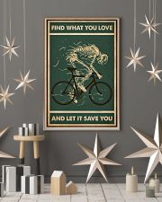 Retro Green Find What You Love Cycling Skeleton 11x17 Poster lifestyle-holiday-poster-1
