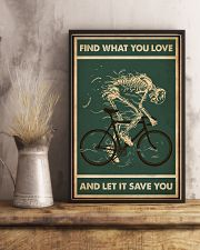 Retro Green Find What You Love Cycling Skeleton 11x17 Poster lifestyle-poster-3