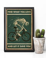 Retro Green Find What You Love Cycling Skeleton 11x17 Poster lifestyle-poster-8
