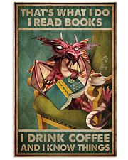 Read Books And Drink Coffee Dragon 11x17 Poster front