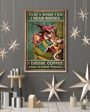 Read Books And Drink Coffee Dragon 11x17 Poster lifestyle-holiday-poster-1