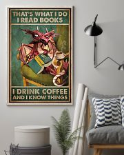Read Books And Drink Coffee Dragon 11x17 Poster lifestyle-poster-1