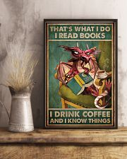 Read Books And Drink Coffee Dragon 11x17 Poster lifestyle-poster-3