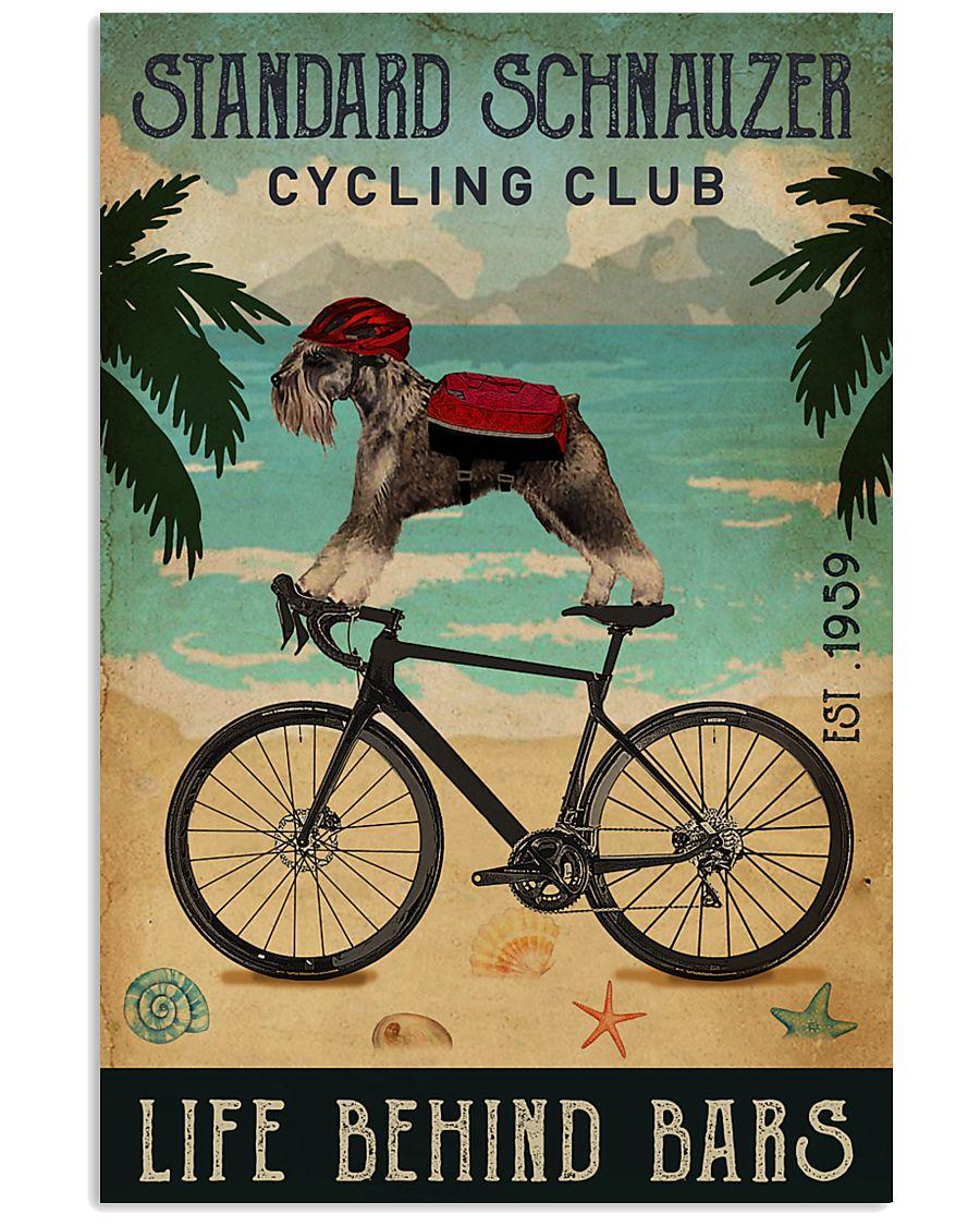 Cycling Club Standard Schnauzer 11x17 Poster