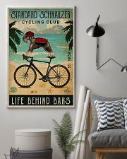 Cycling Club Standard Schnauzer 11x17 Poster lifestyle-poster-1