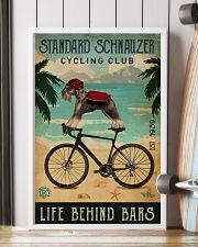 Cycling Club Standard Schnauzer 11x17 Poster lifestyle-poster-4