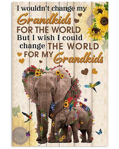 Change The World For My Grandkids Elephant