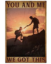 Retro You And Me Hiking 16x24 Poster front