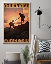 Retro You And Me Hiking 16x24 Poster lifestyle-poster-1