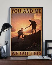 Retro You And Me Hiking 16x24 Poster lifestyle-poster-2