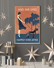 Vintage Girl Lived Happily Giant Schnauzer 11x17 Poster lifestyle-holiday-poster-1