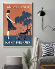 Vintage Girl Lived Happily Giant Schnauzer 11x17 Poster lifestyle-poster-1
