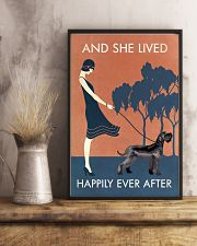 Vintage Girl Lived Happily Giant Schnauzer 11x17 Poster lifestyle-poster-3