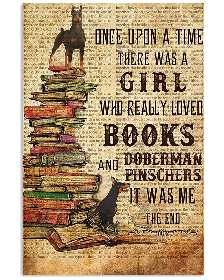 Once Upon A Time Reading Doberman Pinschers 11x17 Poster