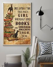 Once Upon A Time Reading Doberman Pinschers 11x17 Poster lifestyle-poster-1