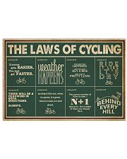 Retro Green The Laws Of Cycling 24x16 Poster front