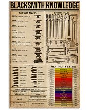 Blacksmith Knowledge  16x24 Poster front