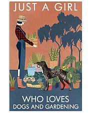 Vintage Girl Loves Gardening German Shorthaired 11x17 Poster front