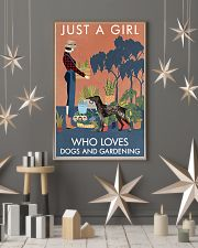 Vintage Girl Loves Gardening German Shorthaired 11x17 Poster lifestyle-holiday-poster-1