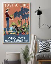 Vintage Girl Loves Gardening German Shorthaired 11x17 Poster lifestyle-poster-1