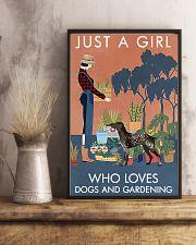 Vintage Girl Loves Gardening German Shorthaired 11x17 Poster lifestyle-poster-3