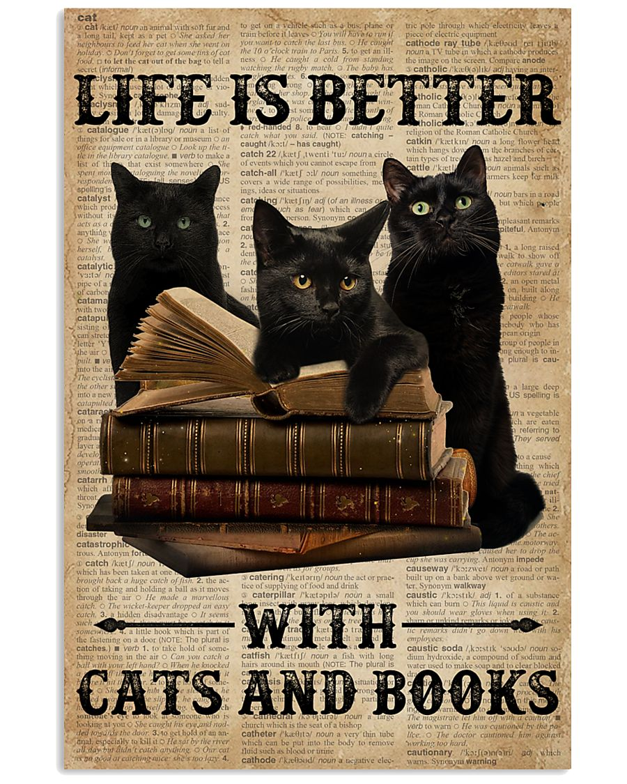 Life Is Better With Cats And Books 11x17 Poster