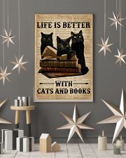Life Is Better With Cats And Books 11x17 Poster lifestyle-holiday-poster-1
