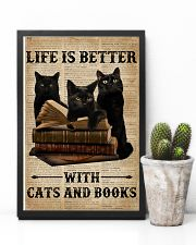 Life Is Better With Cats And Books 11x17 Poster lifestyle-poster-8