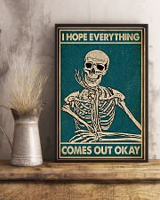 I Hope Everything Skeleton 16x24 Poster lifestyle-poster-3