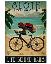 Cycling Club Sloth 11x17 Poster front