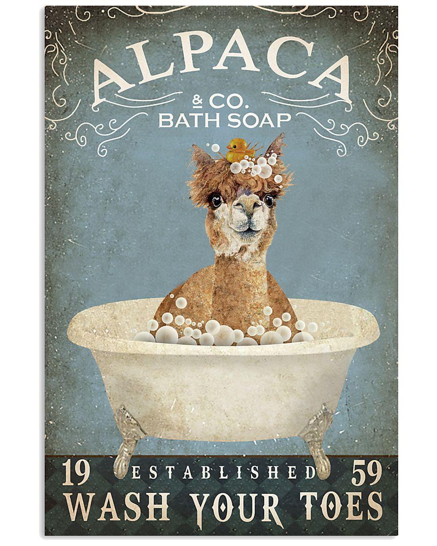 Vintage Bath Soap Alpaca  11x17 Poster