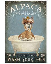 Vintage Bath Soap Alpaca  11x17 Poster front