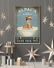 Vintage Bath Soap Alpaca  11x17 Poster lifestyle-holiday-poster-1