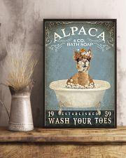 Vintage Bath Soap Alpaca  11x17 Poster lifestyle-poster-3