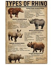 Types Of Rhinoceros 11x17 Poster front
