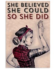 Power Girl Barber She Believed She Could  16x24 Poster front