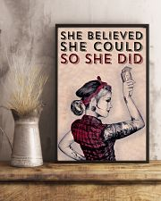 Power Girl Barber She Believed She Could  16x24 Poster lifestyle-poster-3