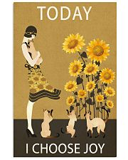 Sunflower Vintage Choose Joy Siamese Cat 11x17 Poster front