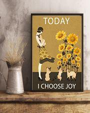 Sunflower Vintage Choose Joy Siamese Cat 11x17 Poster lifestyle-poster-3