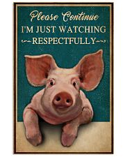 Retro Teal Watching Respectfully Pig 16x24 Poster front