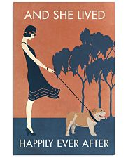 Vintage Girl She Lived Happily Bulldog 11x17 Poster front