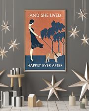 Vintage Girl She Lived Happily Bulldog 11x17 Poster lifestyle-holiday-poster-1